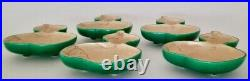 Vintage Japanese Hand Painted Gourd-form Dishes/plates (set Of 5) Signed
